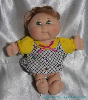 """Rare 1995 Mattel CPK Cabbage Patch Kids 8"""" Scented Doll w/Red Hair & Green Eyes"""