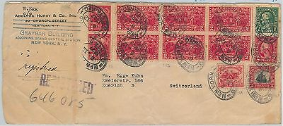 65125 - USA - POSTAL HISTORY: REGISTERED COVER to SWITZERLAND 1927  TUBERCULOSIS