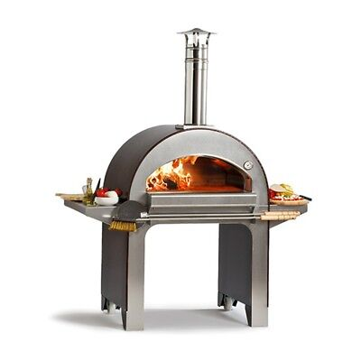 New Alfa Wood Fired Pizza Oven - Forno 4 Pizze - Copper