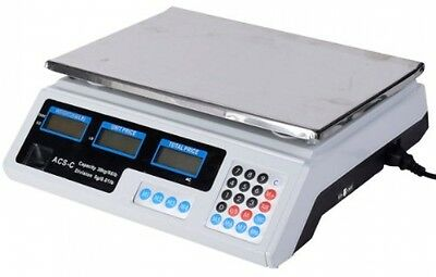 Safstar Electronic Price Computing Scale LCD Digital Commercial Food Meat Scale
