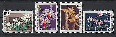 CHINA: TAIWAN 1958 ORCHIDS set of 4 perfect stamps.SG280/283.MUH/MNH.High retail