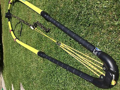 Adjustable Windsurfer Boom By North Sails with outhaul, uphaul and harness lines