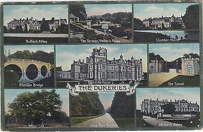 One old Multi viewed postcard of the Dukeries
