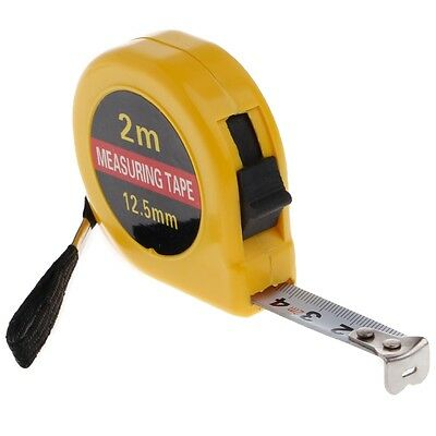 Mini Pocket Retractable Tape Measure Ruler Tool Builders Home DIY Garage 2m Rule
