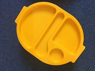 JUST£1 EACH!! 90X Melamaster Plastic Food Compartment Tray Yellow School Canteen
