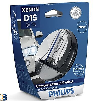 1x Philips D1S Xenon WhiteVision car headlight bulb PK32d-2 85415WHV2S1 gen2