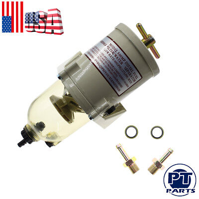 New Diesel Marine Boat Fuel Filter& Water Separator 500FG 500FH