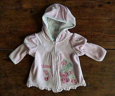 Gorgeous Minnie Mouse baby girl pink hooded jacket size 000