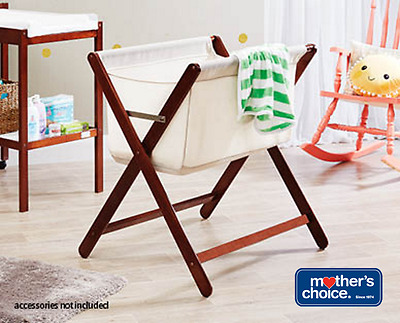 NEW MOTHER'S CHOICE Baby Infant Bassinet Portable Folding Timber Bed Cot Crib