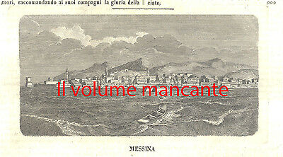 Messina incisione tratta da l'Album 1847