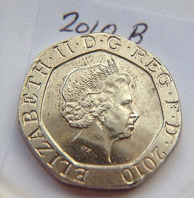 2010 Minting Error 20p Coin Blobs of excess metal on Queens Lip,Chin SetB