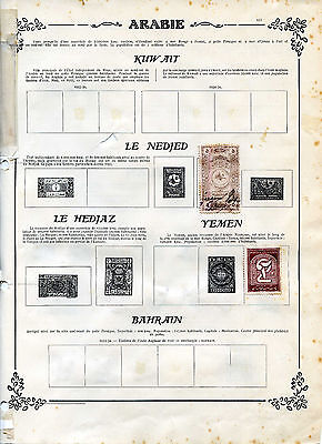 Lot Timbres Yemen Et Nedjed Annees 1920 1930