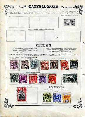 LOT TIMBRES CEYLAN COLONIE ANGLAISE 1872 à 1933 perforations