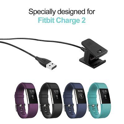 2PCS USB CHARGING CABLE Replacement Accessories Charger For FITBIT CHARGE 2 2017