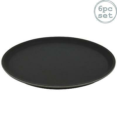 Round Drinks Tray Plastic Non Slip Waiter Serving Drinks Food 28cm x6
