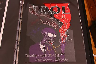 Tool Signed and Doodled Poster - Unique drawing by Adam Jones - Maynard - Rare
