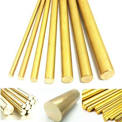 4/8/10/12mm Dia Brass Round Bar Hardware Circular Tube Machining Rod Lathe Mill