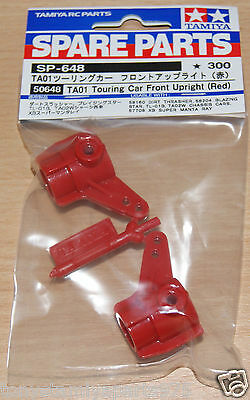 Tamiya 50648/0445098/10445098 TA01 Touring Car Front Upright (Red) (Hot Shot 2)