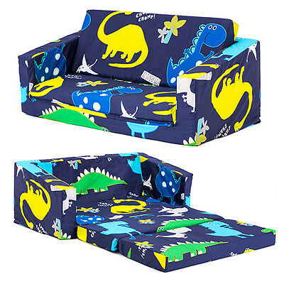 Dinosaurs Kids Flip Out 'Lily' Sofa Bed Sleep Over Fold Out Children's Furniture