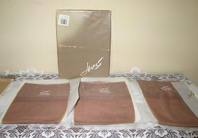 Never Worn Vtg 3 pair HANES Stockings DRIFTWOOD 9 1/2 WALKING SHEER seamless RHT