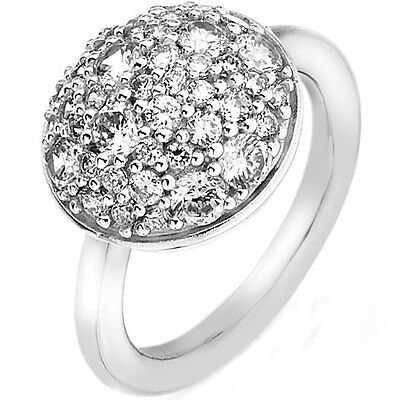 ER011 NEW Genuine Emozioni Sterling Silver CZ Bouquet Ring Size N £89.95