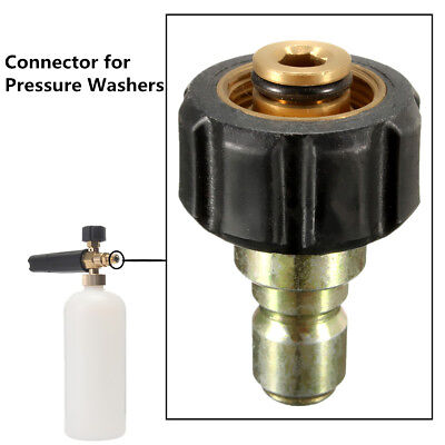 """Pressure Washer Coupler M22 -14mm X 3/8"""" Quick Connect Plug Adapter For Karcher"""