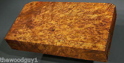 x1407 -    GOLDEN AMBOYNA BURL Turning Square /  Craftwood - Stabilized