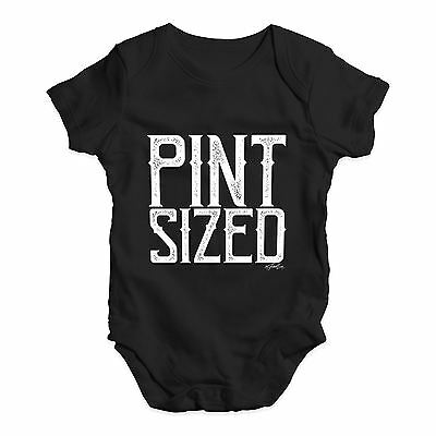 Twisted Envy Pint Sized Baby Unisex Funny Baby Grow Bodysuit