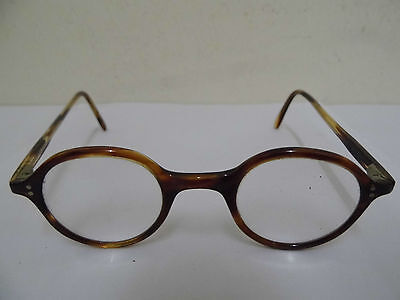 Original Vintage Faux Tortoiseshell Round Rimmed Spectacles With Case, Glasses