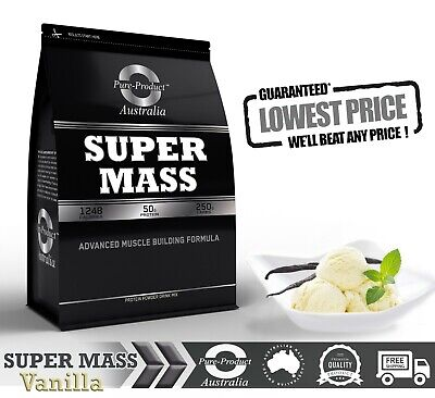 9kg MASS GAINER POWDER WHEY ISOLATE & CONCENTRATE WEIGHT SERIOUS VANILLA