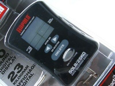 RAPALA 50 LB. Pound Fish Fishing Compact TOUCH SCREEN Scale w/ Hook! RCTDS50