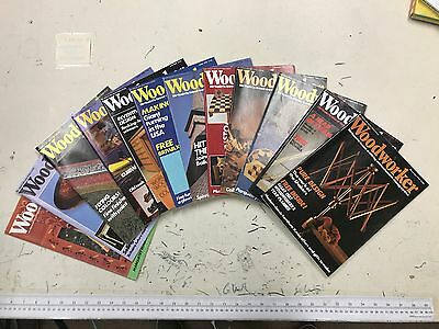 Woodworker magazine, 1986, 12 issues, job lot