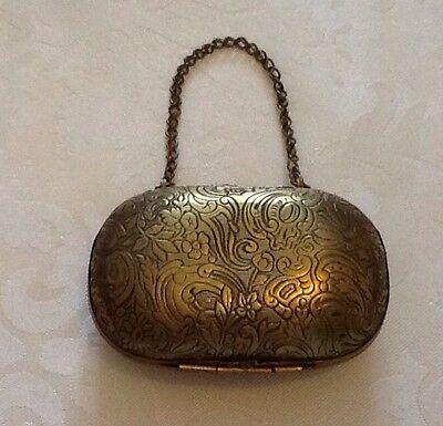 Antique Victorian Brass Gilded Purse