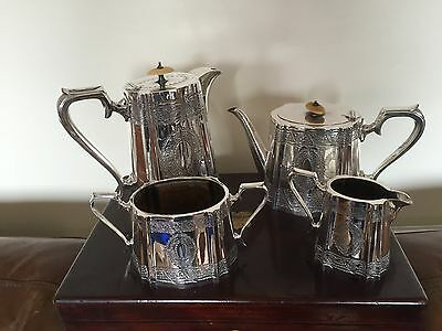 Stunning 4 Piece Victorian Silver Plated Tea/coffee Service  (Ref 2122)