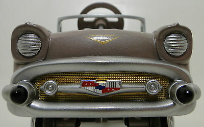 A Pedal Car 1957 Chevy Chevrolet Belair Sport Hot Rod Gold Grille Midget Model