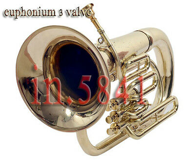 New Euphonium-4Valve-Bb_F-Pitch-Good-Finish-Sound-W-Case-Mp-Tuba-Brass_Finish