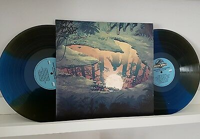 Jurassic World Vinyl Record Mondo coloured Blue Green Soundtrack LP OST.