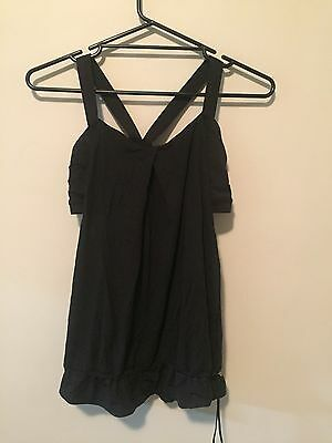 Lululemon Black Top With Built In Bra, Size 10-12