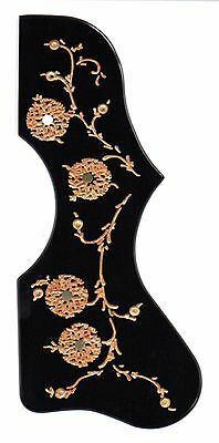 Gibson J-200 custom engraved guitar pickguard black w/ gold fill & pearl inlay