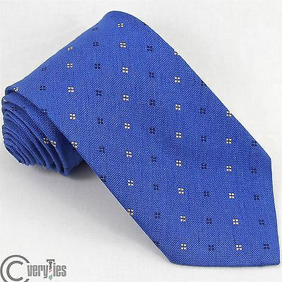 Cravatta BATTISTONI Specially Made For Mc Cann Blu 100% Seta Made in Italy Tie