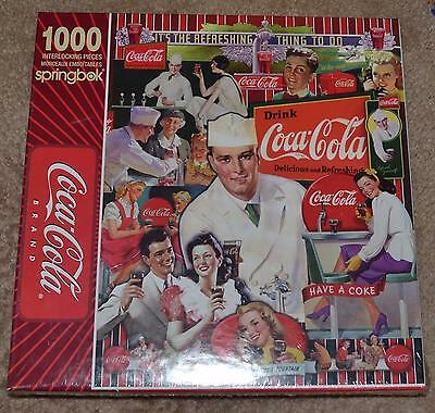 Coca Cola Springbok At The Fountain 1000 Interlocking Pc Puzzle Nib
