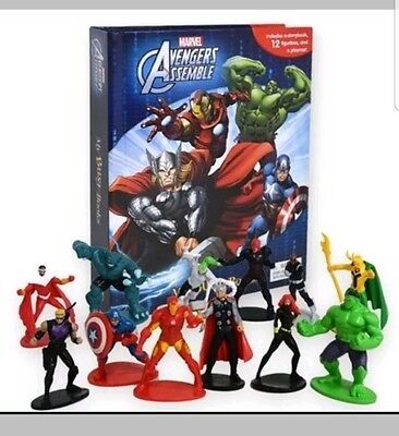 NEW My Busy Books Marvel THE AVENGERS Kids Book Figures Playmat Toys Cake Prop