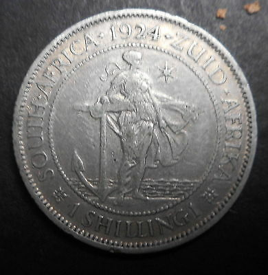 South Africa 1924  George V  silver Shilling Coin