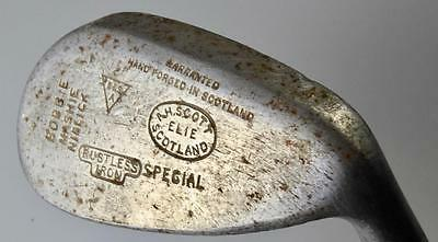 OLD GOLF CLUB A H SCOTT ELIE BOBBIE MASHIE NIBBICK SCOTLAND FIFE HICKORY c1910