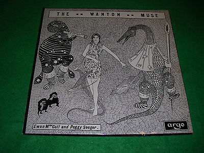 the wanton muse LP ewan maccoll & peggy seeger yellow argo DA 85 & booklet