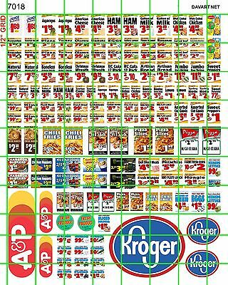7018 Dave's Decals Ho Scale Decal Modern Current Grocery Store Market Window $$