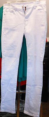 Women's Ling's Juniors Size 7/8 Low Rise Straight Leg White Jeans
