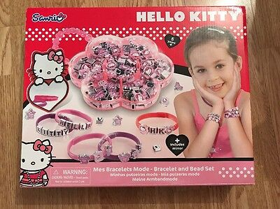 Hello Kitty Bracelet and Beads set - New Included Mirror
