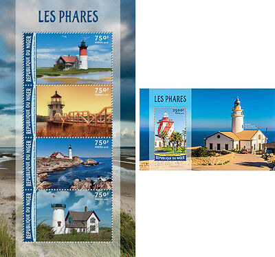 Architecture Lighthouses Leuchttürme Phares Architecture Water Birds Mozambique Mnh Stamp Set