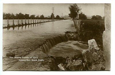 1915 Moray Floods. An Unused Ppc. The Damage At Pluscarden Road, Elgin.